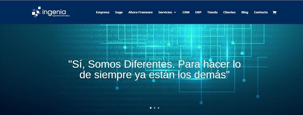 Informática Ingenia lanza su nueva web