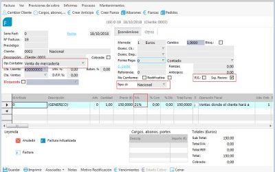 Tipos de facturas emitidas en Ahora ERP