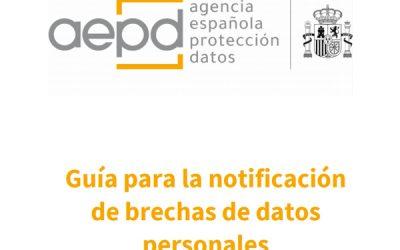 COMUNICACIÓN BRECHAS DE SEGURIDAD (AEPD)